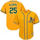 Cheap Athletics #25 Mark McGwire Gold Cool Base Stitched Youth MLB Jersey