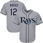 Cheap Rays #12 Wade Boggs Grey Cool Base Stitched Youth MLB Jersey