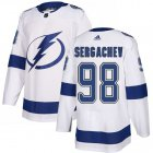 Cheap Adidas Lightning #98 Mikhail Sergachev White Road Authentic Stitched NHL Jersey