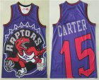 Cheap Men's Toronto Raptors #15 Vince Carter Purple Big Face Mitchell Ness Hardwood Classics Soul Swingman Throwback Jersey