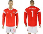 Cheap Russia #1 Akinfeev Red Home Long Sleeves Soccer Country Jersey