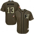 Cheap Orioles #13 Manny Machado Green Salute to Service Stitched Youth MLB Jersey