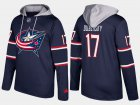 Cheap Blue Jackets #17 Brandon Dubinsky Navy Name And Number Hoodie