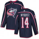 Cheap Adidas Blue Jackets #14 Gustav Nyquist Navy Blue Home Authentic Stitched Youth NHL Jersey