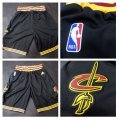 Cheap Men's Cleveland Cavaliers 2016 New Black Shorts