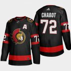 Cheap Ottawa Senators #72 Thomas Chabot Men's Adidas 2020-21 Authentic Player Home Stitched NHL Jersey Black