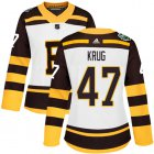 Cheap Adidas Bruins #47 Torey Krug White Authentic 2019 Winter Classic Women's Stitched NHL Jersey