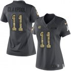 Cheap Nike Steelers #11 Chase Claypool Black Women's Stitched NFL Limited 2016 Salute to Service Jersey