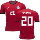 Cheap Egypt #20 S.Samir Red Home Soccer Country Jersey