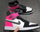 Cheap Air Jordan 1 GS Valentine's Day Shoes Black/Hyper Pink-White