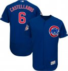 Cheap Cubs #6 Nicholas Castellanos Blue Flexbase Authentic Collection Stitched MLB Jersey