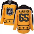 Cheap Senators #65 Erik Karlsson Yellow 2017 All-Star Atlantic Division Women's Stitched NHL Jersey