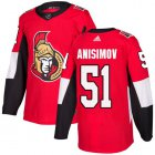 Cheap Adidas Senators #51 Artem Anisimov Red Home Authentic Stitched NHL Jersey