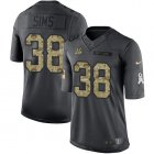 Cheap Nike Bengals #38 LeShaun Sims Black Youth Stitched NFL Limited 2016 Salute to Service Jersey
