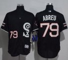 Cheap White Sox #79 Jose Abreu Black New Flexbase Authentic Collection Stitched MLB Jersey