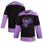 Cheap Pittsburgh Penguins Adidas Hockey Fights Cancer Practice Jersey Black