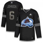 Cheap Adidas Avalanche #6 Erik Johnson Black Authentic Classic Stitched NHL Jersey