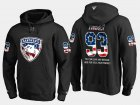 Cheap Panthers #93 Bill Torrey NHL Banner Wave Usa Flag Black Hoodie
