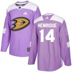 Cheap Adidas Ducks #14 Adam Henrique Purple Authentic Fights Cancer Youth Stitched NHL Jersey