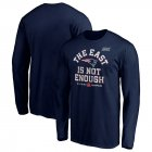 Cheap New England Patriots NFL 2019 AFC East Division Champions Cover Two Long Sleeve T-Shirt Navy