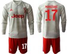 Cheap Juventus #17 Mandzukic Away Long Sleeves Soccer Club Jersey