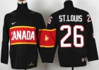 Cheap Team Canada 2014 Olympic #26 Martin St. Louis Black Stitched Youth NHL Jersey