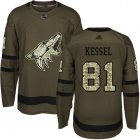 Cheap Adidas Coyotes #81 Phil Kessel Green Salute to Service Stitched Youth NHL Jersey