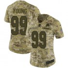 Cheap Nike Redskins #99 Chase Young Camo Women's Stitched NFL Limited 2018 Salute To Service Jersey