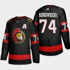 Cheap Ottawa Senators #74 Mark Borowiecki Men's Adidas 2020-21 Authentic Player Home Stitched NHL Jersey Black