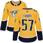 Cheap Adidas Predators #57 Dante Fabbro Yellow Home Authentic Women's Stitched NHL Jersey