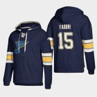 Cheap St. Louis Blues #15 Robby Fabbri Blue adidas Lace-Up Pullover Hoodie