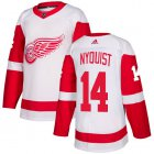 Cheap Adidas Red Wings #14 Gustav Nyquist White Road Authentic Stitched Youth NHL Jersey