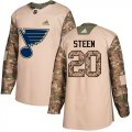 Cheap Adidas Blues #20 Alexander Steen Camo Authentic 2017 Veterans Day Stitched NHL Jersey