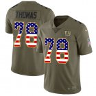 Cheap Nike Giants #78 Andrew Thomas Olive/USA Flag Youth Stitched NFL Limited 2017 Salute To Service Jersey