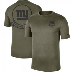 Cheap Men\'s New York Giants Nike Olive 2019 Salute to Service Sideline Seal Legend Performance T-Shirt