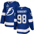 Cheap Adidas Lightning #98 Mikhail Sergachev Blue Home Authentic Youth 2020 Stanley Cup Champions Stitched NHL Jersey