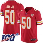 Cheap Nike Chiefs #50 Willie Gay Jr. Red Team Color Youth Stitched NFL 100th Season Vapor Untouchable Limited Jersey