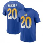 Cheap Los Angeles Rams #20 Jalen Ramsey Nike Team Player Name & Number T-Shirt Royal