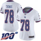 Cheap Nike Giants #78 Andrew Thomas White Women's Stitched NFL Limited Rush 100th Season Jersey