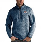 Cheap Denver Broncos Antigua Fortune Quarter-Zip Pullover Jacket Heather Navy