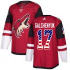 Cheap Adidas Coyotes #17 Alex Galchenyuk Maroon Home Authentic USA Flag Stitched Youth NHL Jersey