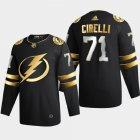 Cheap Tampa Bay Lightning #71 Anthony Cirelli Men's Adidas Black Golden Edition Limited Stitched NHL Jersey