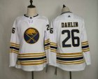 Cheap Youth Buffalo Sabres #26 Rasmus Dahlin White With Gold 50th Anniversary Adidas Stitched NHL Jersey