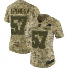 Cheap Nike Bills #57 A.J. Epenesas Camo Women's Stitched NFL Limited 2018 Salute To Service Jersey