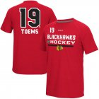 Cheap Chicago Blackhawks #19 Jonathan Toews Reebok CI Freeze Supremium Name & Number T-Shirt Red
