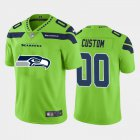 Cheap Seattle Seahawks Custom Green Men's Nike Big Team Logo Vapor Limited NFL Jersey