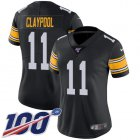 Cheap Nike Steelers #11 Chase Claypool Black Alternate Women's Stitched NFL 100th Season Vapor Untouchable Limited Jersey