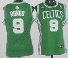 Cheap Boston Celtics #9 Rajon Rondo Green Womens Jersey