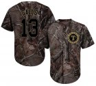 Cheap Rangers #13 Joey Gallo Camo Realtree Collection Cool Base Stitched Youth MLB Jersey