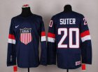 Cheap 2014 Olympic Team USA #20 Ryan Suter Navy Blue Stitched NHL Jersey